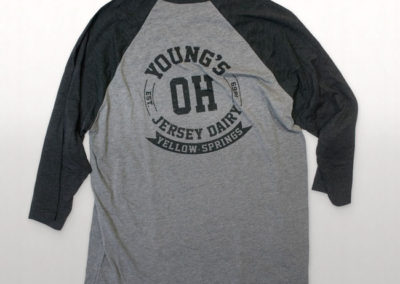 Young's Jersey Dairy Screen Printed Baseball T-Shirt