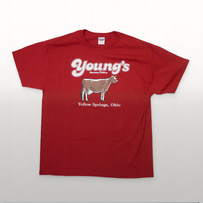 Young's Jersey Dairy Screen Printed Graphic T-Shirt