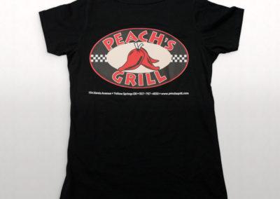 Peach's Grill Screen Printed T-Shirt